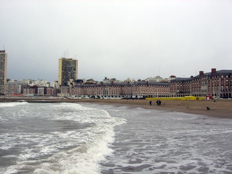 Vue panoramique de la ville de Mar del Plata Bristol Beach Casino Buildings Buenos Aires Argentine photo libre de droits