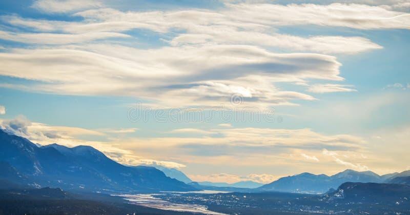 Vue panoramique de lac columbia de Mt Canada de Swansea photos stock