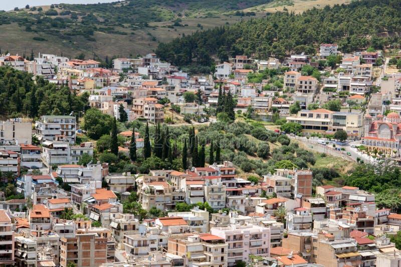 Vue panoramique de Lamia City, Grèce photo stock