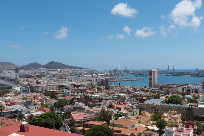 Vue panoramique de Las Palmas de Gran Canaria photos stock