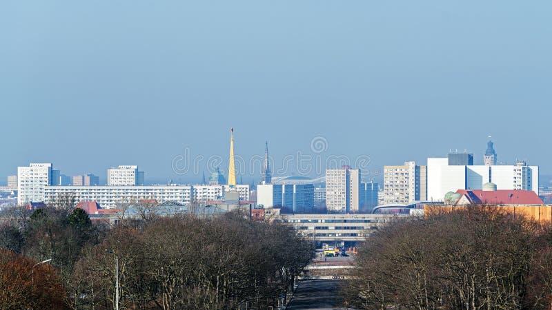 Vue panoramique de Leipzig photo stock