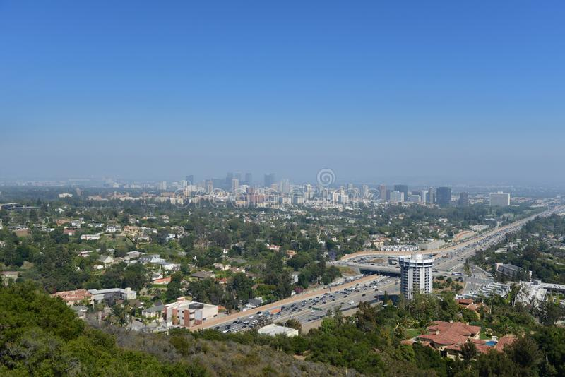 Vue panoramique de Los Angeles image stock