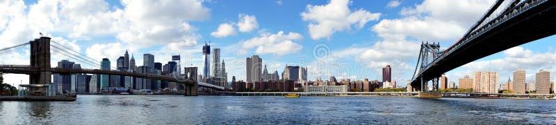 Vue panoramique de Manhattan photo stock