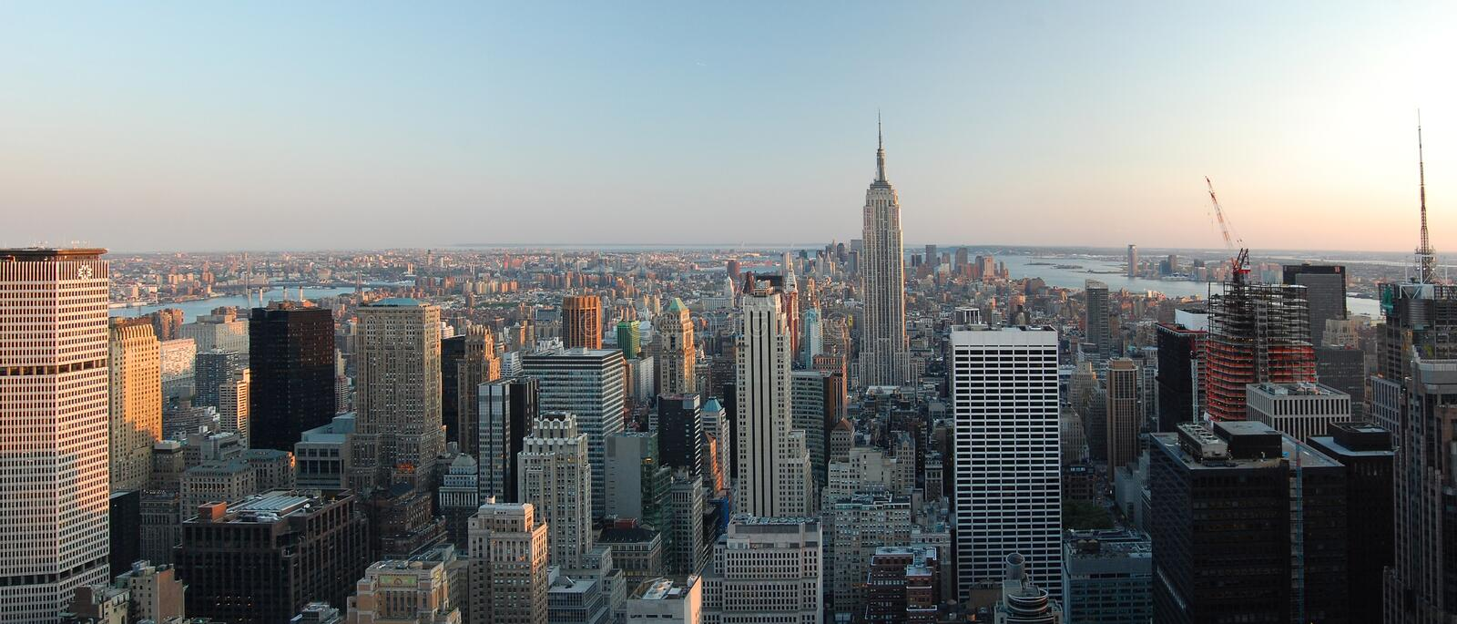 Vue panoramique de Manhattan NY photos stock