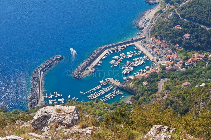 Vue panoramique de Maratea. Basilicate. L'Italie. photos libres de droits