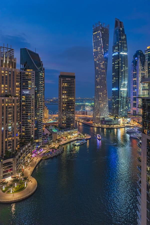 Vue panoramique de marina de Dubaï photos stock