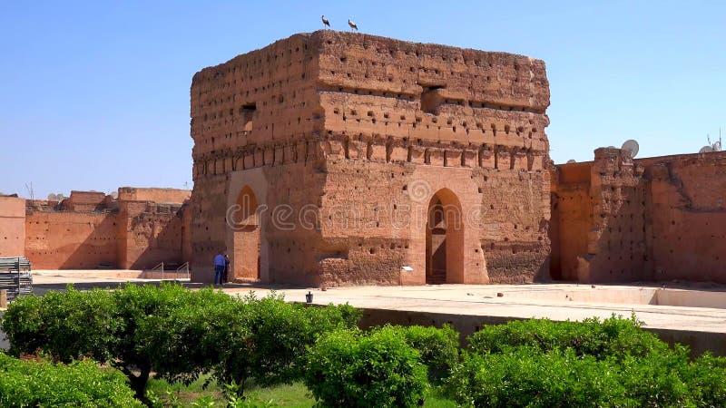 Vue panoramique de Marrakech et de vieille Médina, Maroc images stock