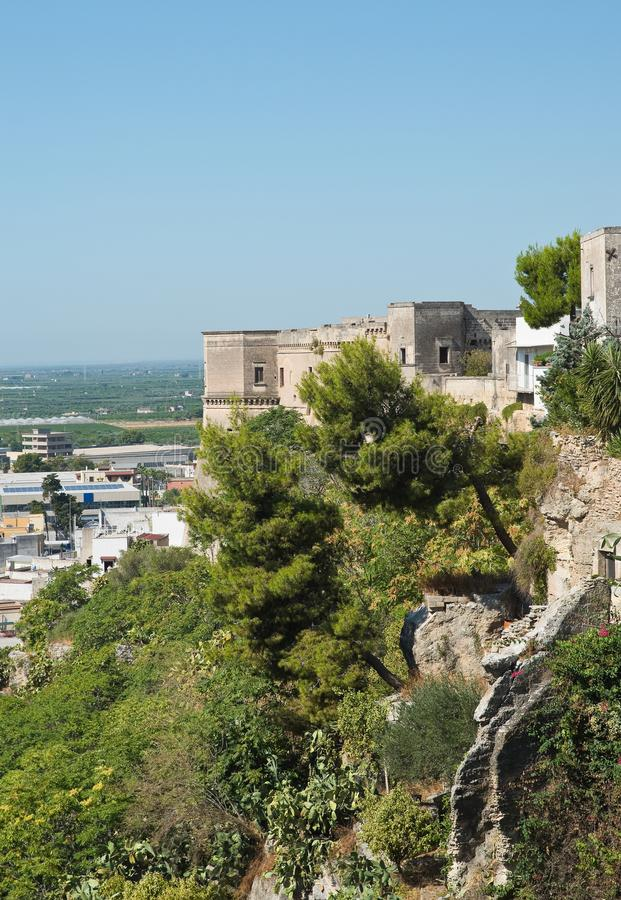 Vue panoramique de Massafra La Puglia l'Italie photos stock