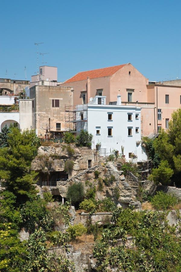 Vue panoramique de Massafra La Puglia l'Italie image stock