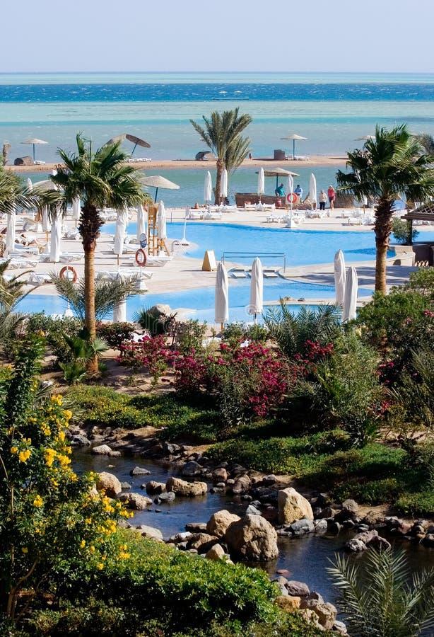 Vue panoramique de mer au-dessus de lagune images stock