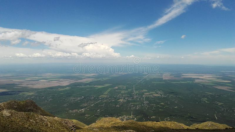 Vue panoramique de Merlo, San Luis Argentina photo stock