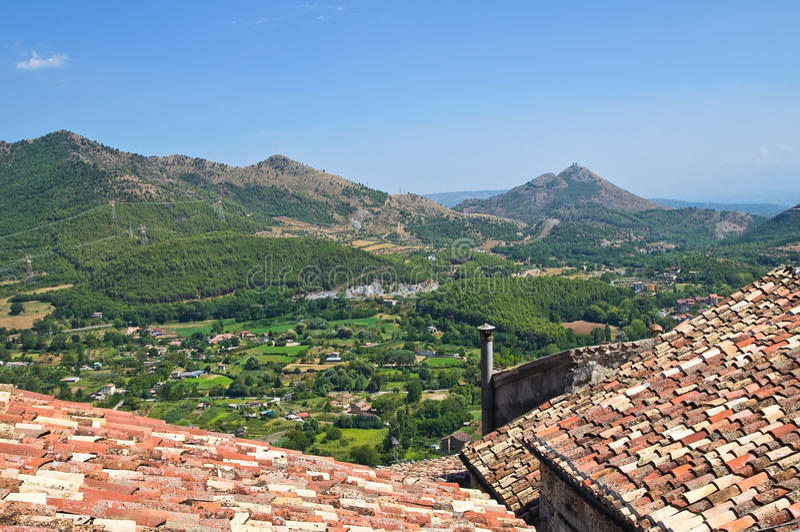 Download Vue Panoramique De Morano Calabro La Calabre L'Italie Photo stock - Image du édifice, façade: 45356278