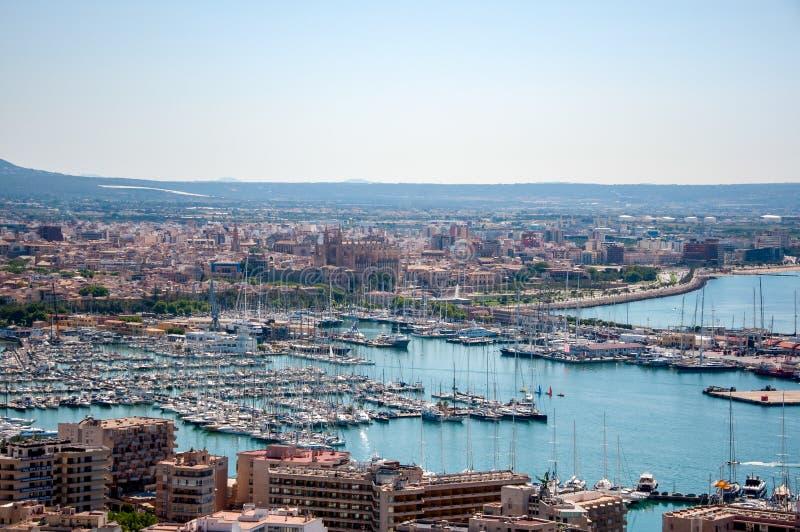 Vue panoramique de Palma de Mallorca, Espagne photos stock