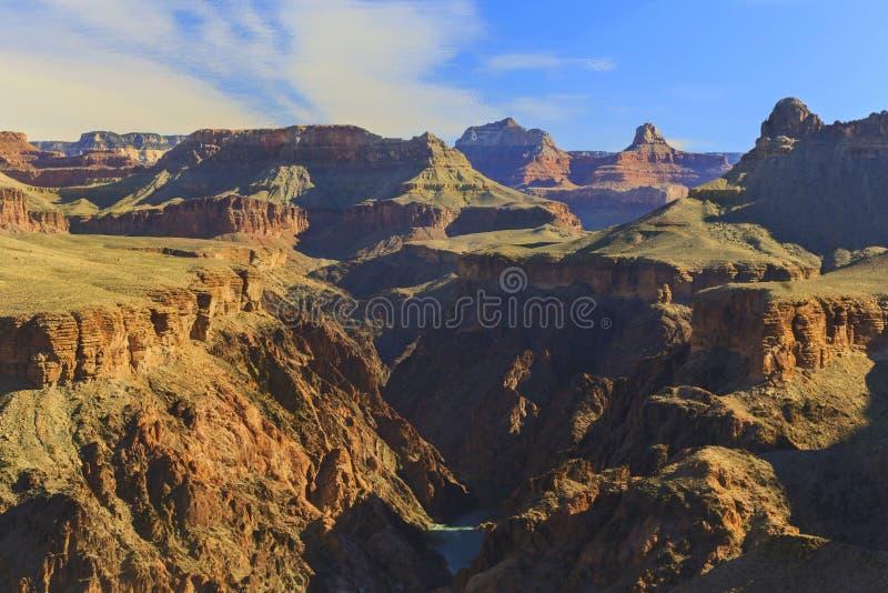 Vue panoramique de paysage scénique du fleuve Colorado Grand Canyon Arizona images stock