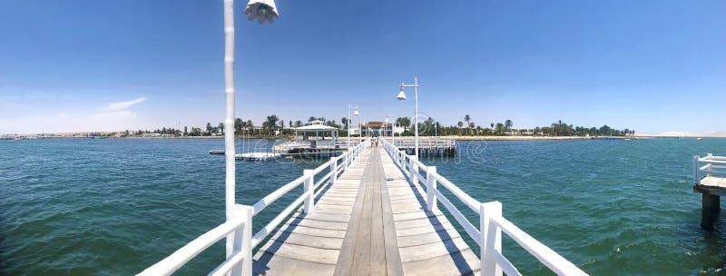 Vue panoramique de pilier symétrique à la réservation naturelle nationale de Paracas photographie stock libre de droits