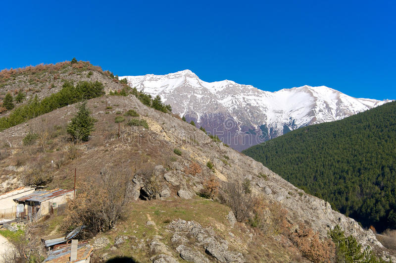 Vue panoramique de Pizzo Cefalone, Abruzzo, Italie photo libre de droits