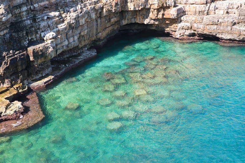 Vue panoramique de Polignano La Puglia l'Italie photo stock