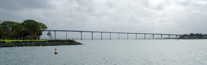 Vue panoramique de pont de Coronado à San Diego, la Californie image libre de droits