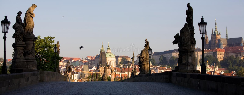Vue panoramique de Prague images libres de droits
