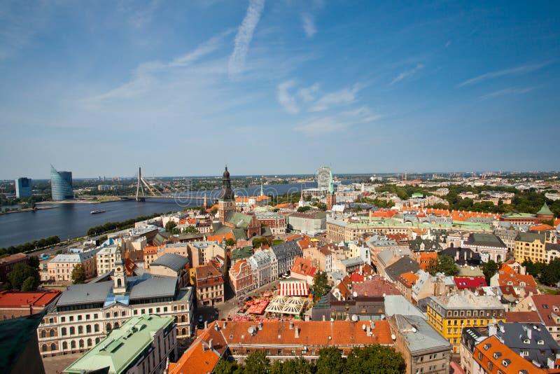 Vue panoramique de Riga photos stock