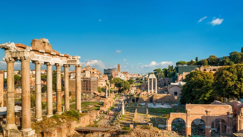 Vue panoramique de Roman Forum à Rome, Italie photo libre de droits