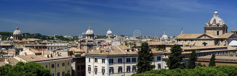 Vue panoramique de Rome image libre de droits