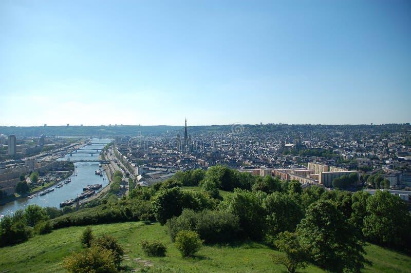 vue panoramique de Rouen photos stock