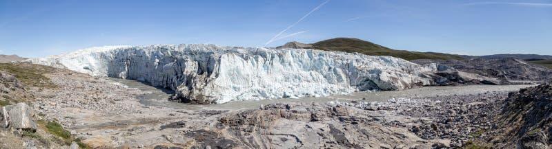 Vue panoramique de Russell Glacier au Groenland photographie stock libre de droits