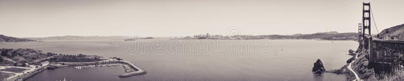 Vue panoramique de San Francisco Bay depuis le point de vue photo libre de droits