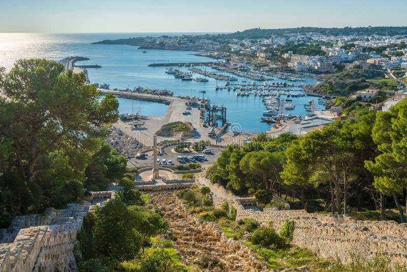 Vue panoramique de Santa Maria di Leuca Sanctuary, province de Lecce, Puglia, Italie du sud photos libres de droits