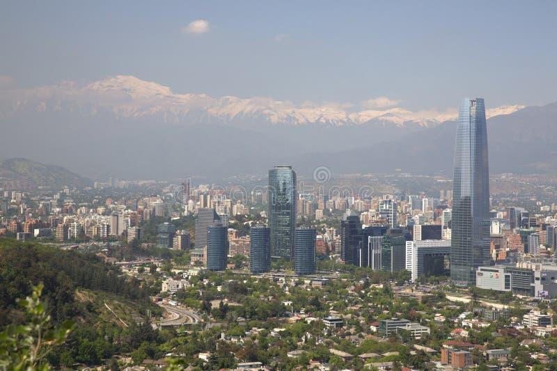 Vue panoramique de Santiago de Chili images stock