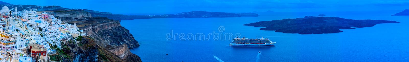 Vue panoramique de Santorini photos libres de droits