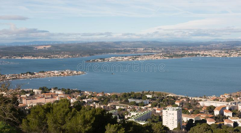 Sete - Herault - France. Vue panoramique de Sete - Herault - Occitania - France stock photography