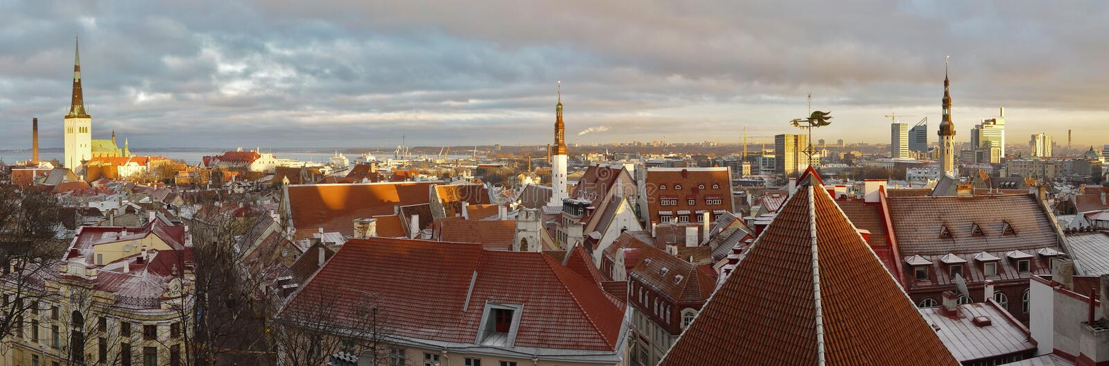 Vue panoramique de Tallinn, Estonie photos libres de droits