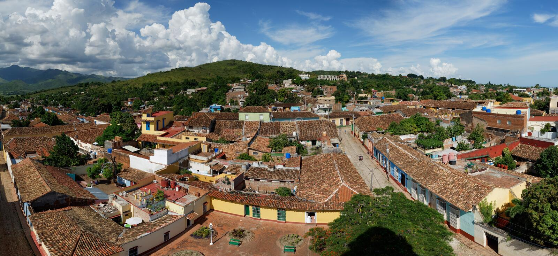 Vue panoramique de Trinidad de Cuba images stock