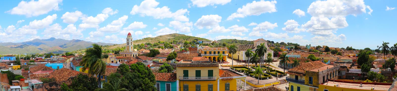 Vue panoramique de vieille ville du Trinidad, Cuba photos libres de droits