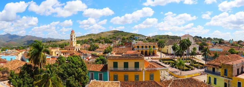 Vue panoramique de vieille ville du Trinidad, Cuba image libre de droits