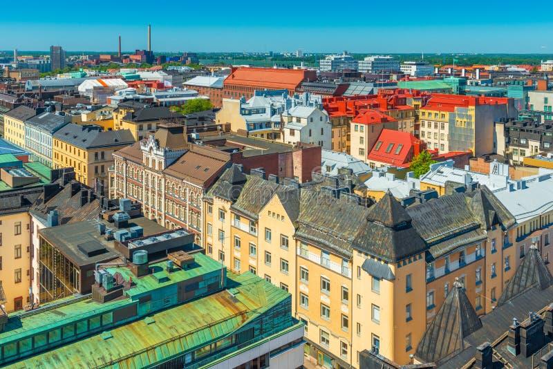Vue panoramique de vieux centre de la ville de Helsinki, Finlande photographie stock libre de droits