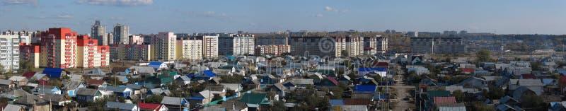 Vue panoramique de ville images libres de droits