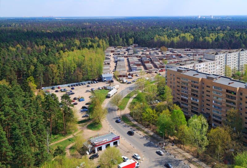 Vue panoramique de ville Balashikha Russie photos libres de droits