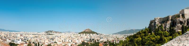 Vue panoramique de ville d'Athènes en Grèce image libre de droits