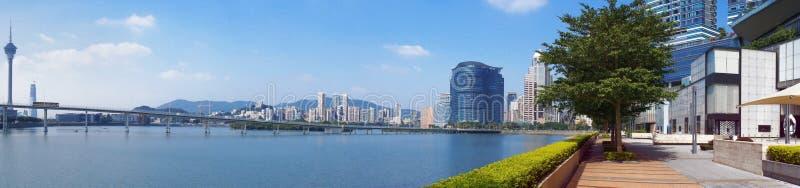 Vue panoramique de ville de Macao images libres de droits