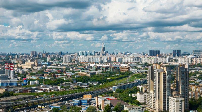 Vue panoramique de ville de Moscou photographie stock