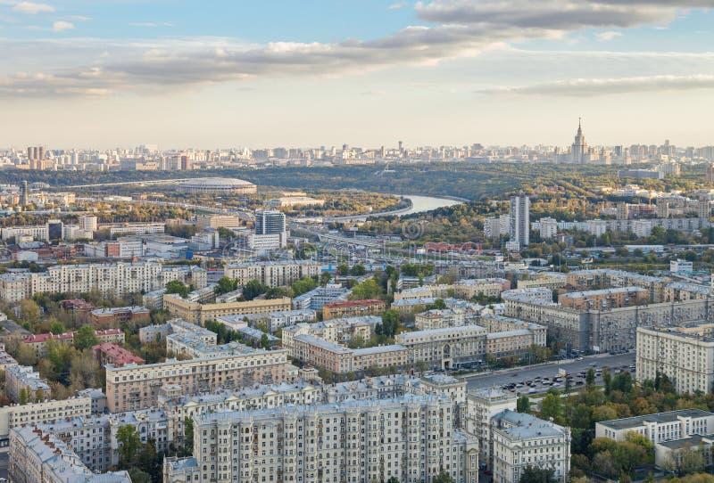 Vue panoramique de ville de Moscou photographie stock libre de droits