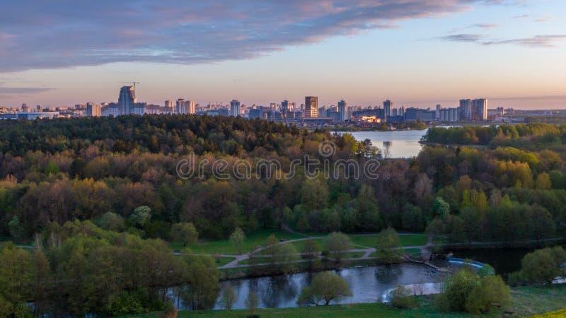 Vue panoramique de ville de Minsk, Belarus image libre de droits