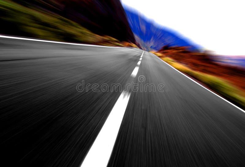 Vue panoramique de vitesse photo libre de droits