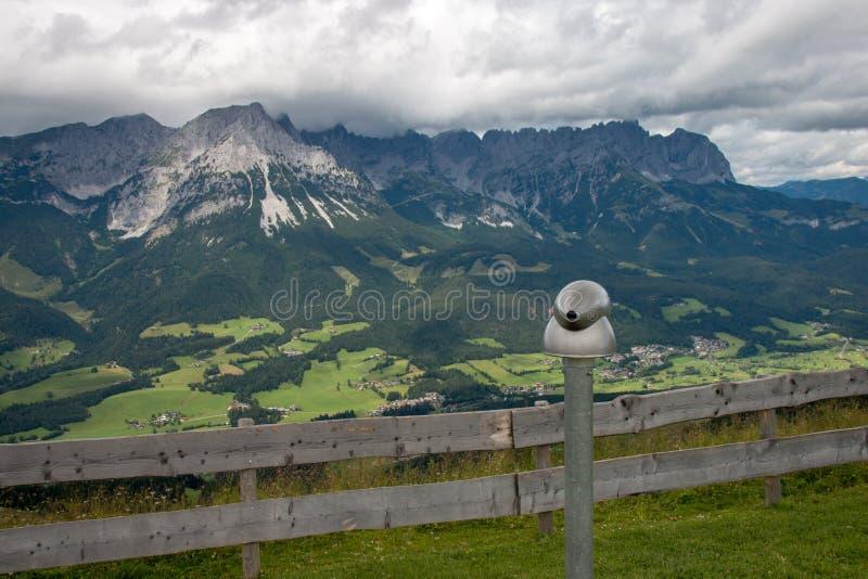 Vue panoramique de Wilder Kaiser Mountains, Autriche photo libre de droits