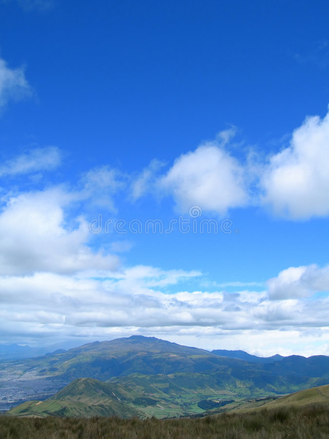 Vue panoramique des Andes image stock