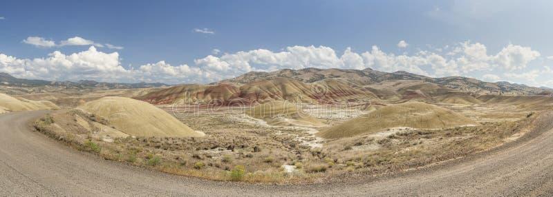 Vue panoramique des collines Painted, Orégon image libre de droits