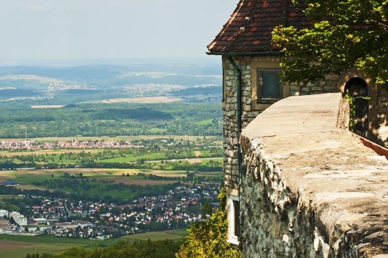 Vue panoramique du château allemand Teck photographie stock